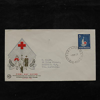 ZS-U765 RED CROSS - Australia, 1953 Fdc, Great Franking Cover