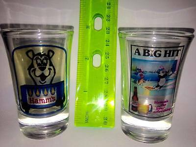 Hamms Beer Bear Collector's Shot Glasses in Mint