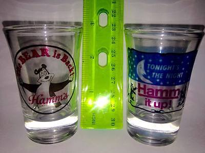 Hamms Beer Collector's Shot Glasses in Mint condition!