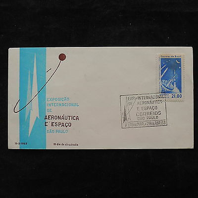 ZS-V146 SPACE - Brazil, 1963 Fdc, Expo Areonautica And Space Cover