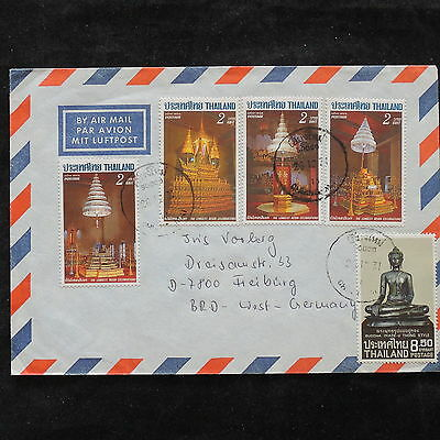 ZS-V170 THAILAND - Monuments, Great Airmail To Germany Cover