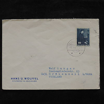 ZS-V197 DENMARK - Cover, Paintings, 1966, Airmail To Germany
