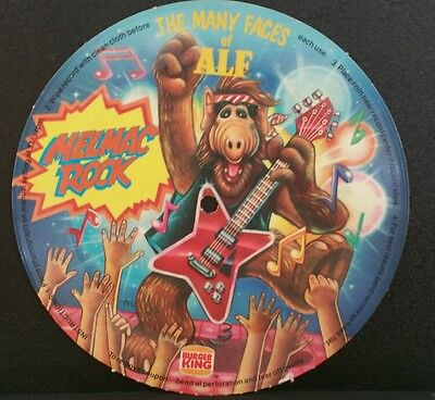 The Many Faces of Alf Melmac Rock Record  Burger King 1988 Premium