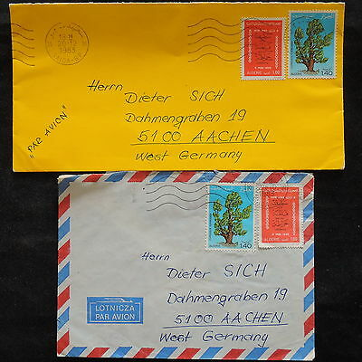 ZS-V305 ALGERIA IND - Covers, 1983, Plants, Airmail To Germany, Lot Of 2
