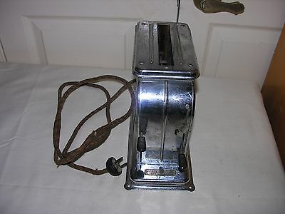 """Antique Automatic Electric 1 Slice Toaster """"Toastmaster"""" Model 1-A-1 Un-tested"""