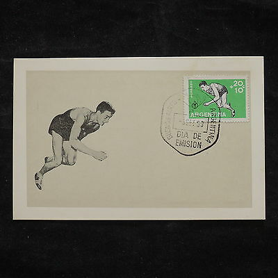 ZS-W807 ARGENTINA - Maximum Card, Sports, Running, Fdc, 1959, Great Franking