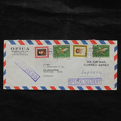 ZS-W859 VENEZUELA - Fish, Paintings, Portraita, Airmail To Germany Cover