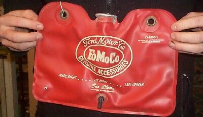 Vintage Ford Motor Co FoMoCo Washer Fluid Water Bag W Logo Sign Gasoline Oil Gas