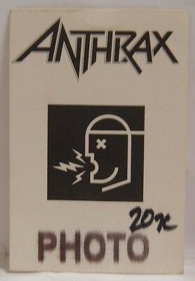 Anthrax - Old Original Cloth Concert Tour Backstage Pass ***last One***