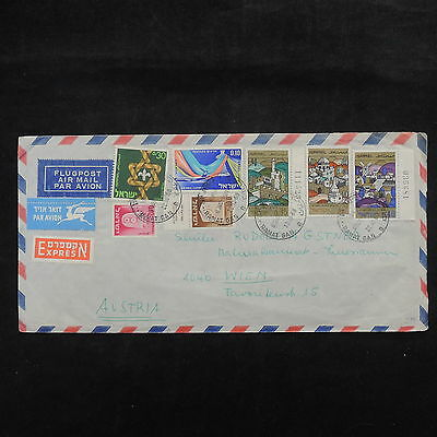 ZS-X420 ISRAEL - Cover, 1968, Airmail To Austria