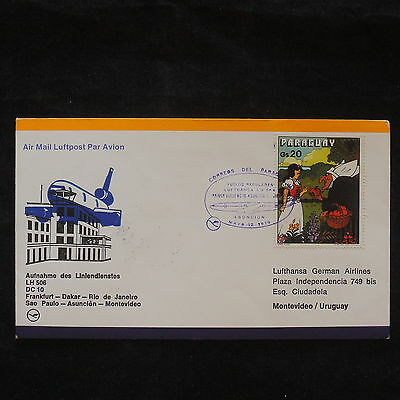 ZS-X682 PARAGUAY - Lufthansa, 1979, Flight To Montevideo, Printed Matter Cover