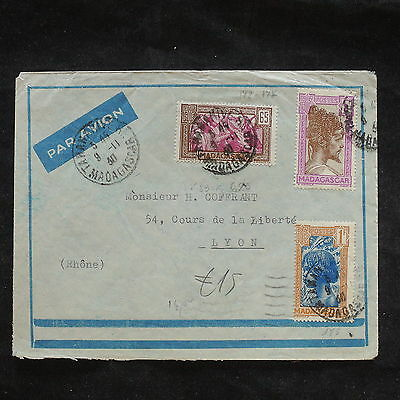 ZS-X740 MADAGASCAR IND - Cover, 1958, Airmail To France