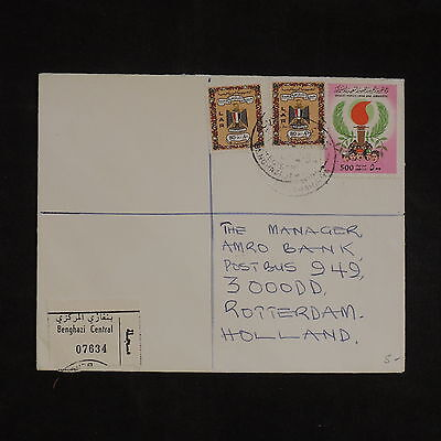 ZS-X800 LIBYA - Cover, Great Franking To Netherlands