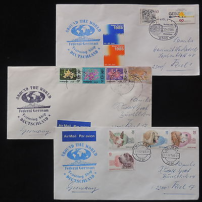 ZS-X978 MALAYSIA - Ships, Federal German Training Ship, Lot Of 3 Covers