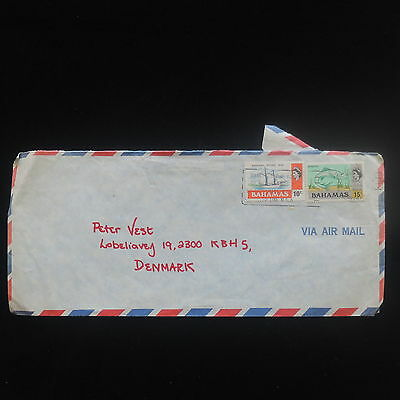 ZS-Y024 BAHAMAS IND - Fish, Sheep, 1976, Airmail To Denmark Cover