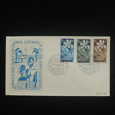 ZS-Y097 GUINEA - Fdc, 1952, Flowers, Pro Indigenas, Great Franking Cover