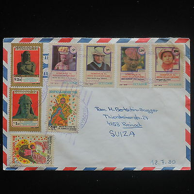 ZS-Y173 ECUADOR - Cover, 1980, Costumes, Folklore, To Switzerland