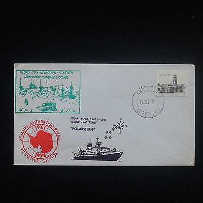 ZS-Y225 SOUTH AFRICA IND - Antartic, 1986 25Th Anniv. Polarstern Cover