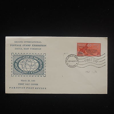 ZS-Y232 PAKISTAN - Fdc, 1963, 2Dn International Postage Stamp Expo Cover