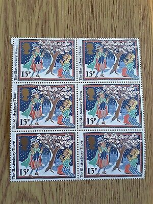 Postage Stamps Christmas 1986 Block of 6 X 13p Glastonbury Thorn MINT Stamps