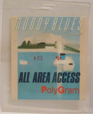 The Moody Blues - Original Laminate Concert Tour Backstage Pass