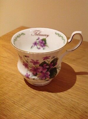 Queen's China Cup February violets Design