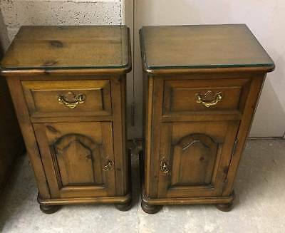 Solid Pine Bedside Lamp Tables/Cupboard with a dovetail joint drawer