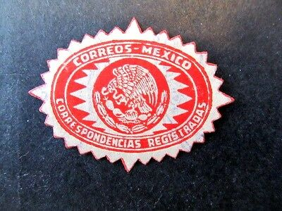 Mexico, Registered Mail Seal