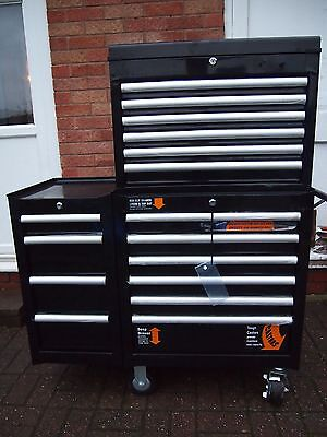 Halfords Industrial Drawer Ball Bearing Tool Chest, Cabinet And Side Chest