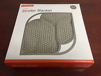 Stokke Xplory Knitted Blanket Canopy 100% Cotton Greige 39x30 NEW FREE Shipping