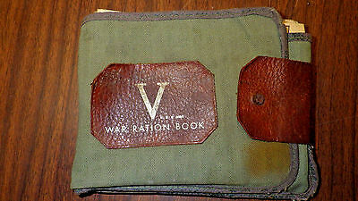 14 WWII War Ration Books with Storage Wallet 1944-45 - Historic - Free Shipping
