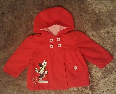 baby girls disney minnie mouse coat 6-9 months
