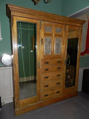 Early 20th Century Antique Wardrobe - Dismantles into Five Sections