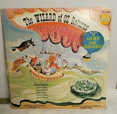 THE WIZARD OF OZ RETURNS *Game and LP Record* RG 502  W/ Spinner Gatefold -  VG+