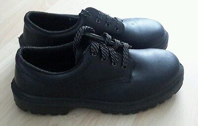 Mens Steel Toe Cap / Leather Work Shoes / Size 7