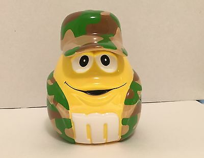 M&M's Yellow Camouflage Candy Jar with Hat Lid
