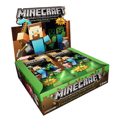 New Minecraft Collectible Sticker Cards - Various Quantities UK Seller