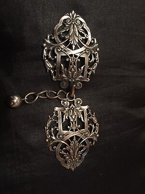 Beautiful Antique Art Nouveau Silverplated Cloak Clasp