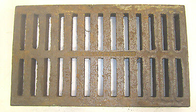 BIG Heavy Duty Cast Iron Industrial Storm Drain Grate Fireplace BBQ Steampunk