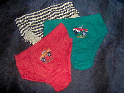 3 Pairs Boys Briefs Slips Cotton  -Ages 4/5 - 5/6 Years Assorted