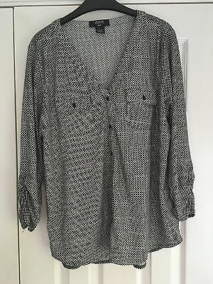 Verve Ami Ladies Black And White Long Sleeve Top Size 12