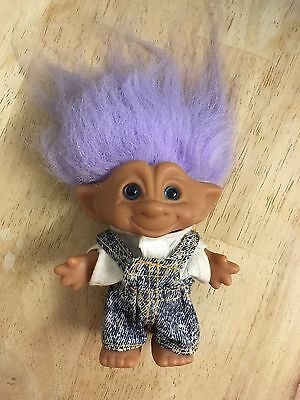 Troll With Purple Hair And Original Clothes