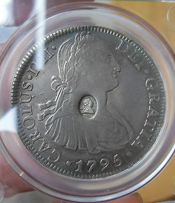 1795 George 111 Countermarked 8 Reale/dollar Coin,superb Coin.