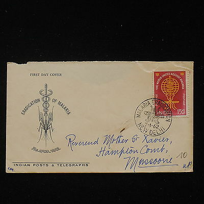 ZS-AA485 INDIA IND - Fdc, 1962 Eradication Of Malaria Cover