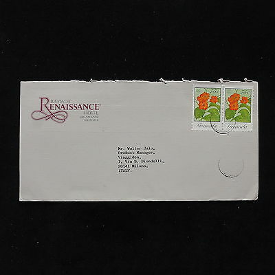 ZS-AB866 GRENADA IND - Flowers, Airmail To Milan Italy Cover