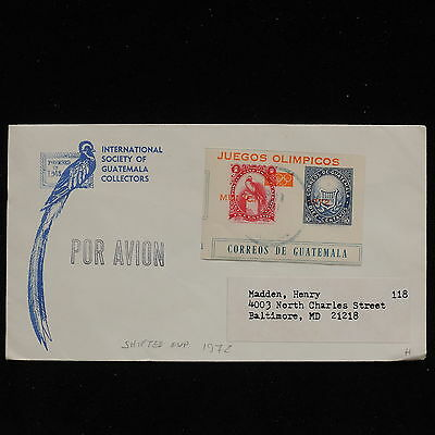 ZS-AC121 GUATEMALA - Olympic Games, 1972 Shifted Ovp,To Baltimore Usa Cover