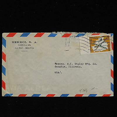 ZS-AC159 BOLIVIA - Airmail, 1964 From La Paz To Decatur Usa Cover