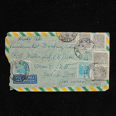ZS-AC227 BRAZIL - Airmail, 1948 From Sao Paolo To Germany Russian Zone Cover