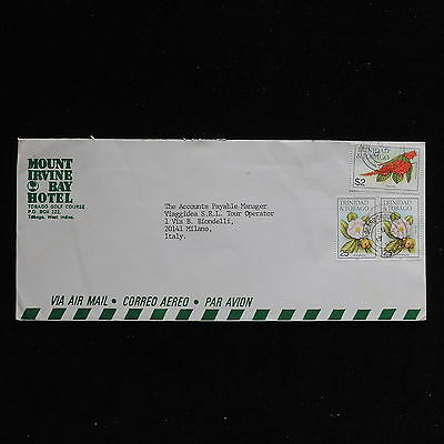 ZS-AC257 TRINIDAD & TOBAGO IND - Flowers, 1990 Airmail To Milan Italy Cover