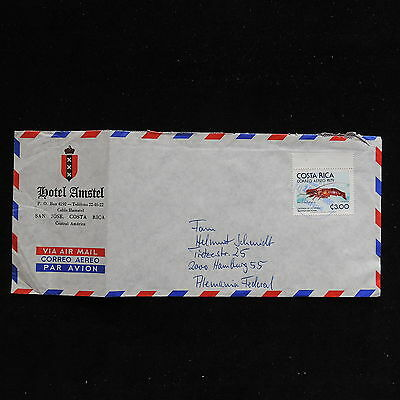 ZS-AC269 COSTA RICA - Fish, 1979 Airmail To Hamburg Germany Cover